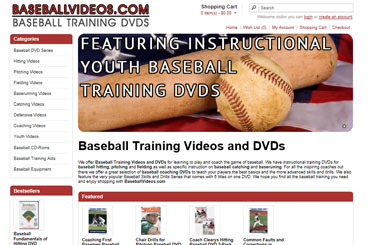 Baseball Videos eCommerce Web Design