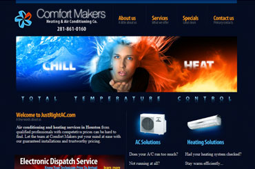 Just Right AC Website Design