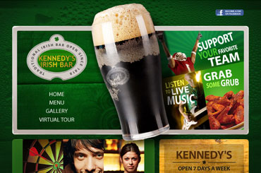 Kennedys Irish Bar Website Design