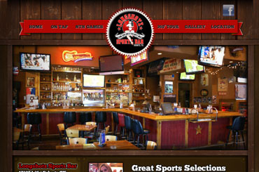 Longshotz Bar Website Design