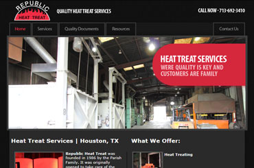 Republic Heat Treat Website Design