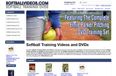 Softball Videos eCommerce Web Design