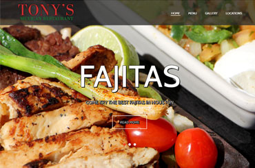 Tonys Mexican Restaurant Web Design
