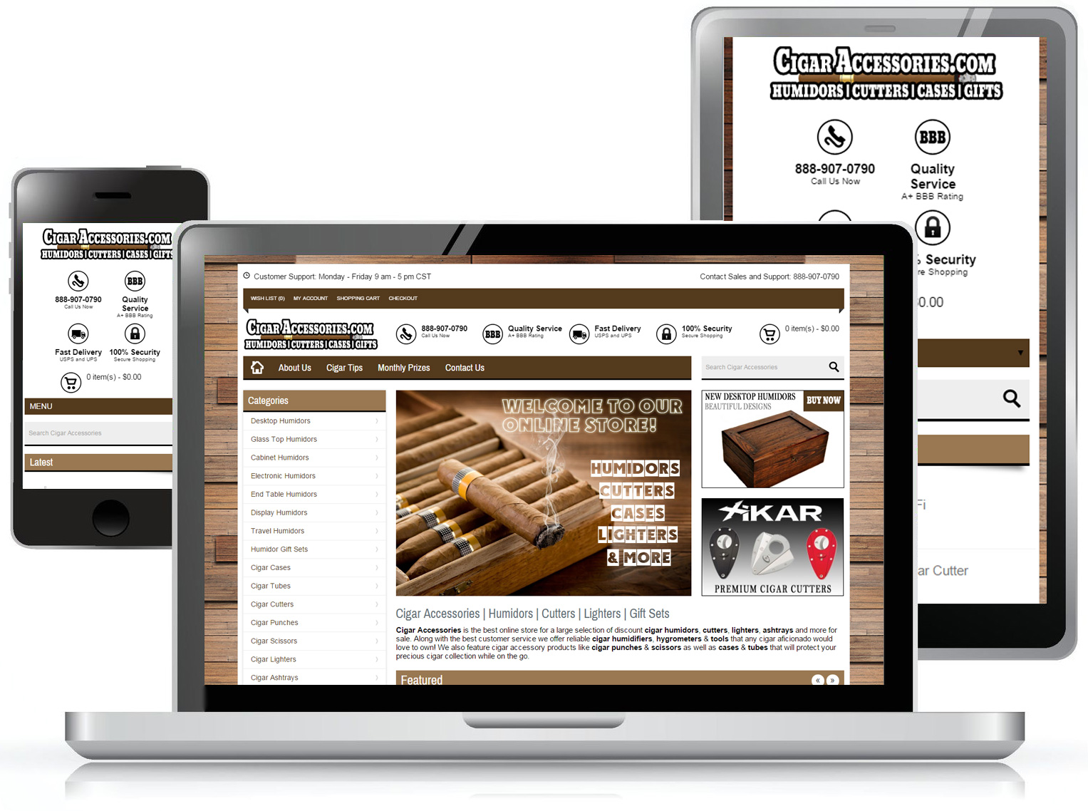 Cigar Accessories Web Design